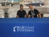 Robin and Dave at the BlueStamp booth