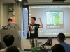 Presenting the book at the end of the Hack-a-Thon