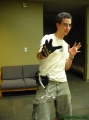 Jeremy Wielding the Glove