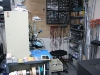 My Lair in the Corner of the Lab.  There\'s a laser printer to the left, and 3D Printer to the Right