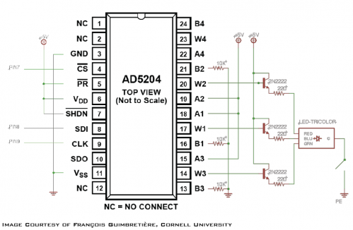 3D Puzzle LED Control Schematic