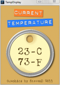 Stevens Temperature Display