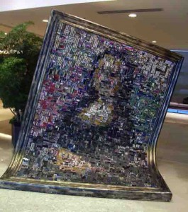 Mona Lisa Constructed from Electronic Components